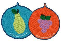 Tutorial: agarradores de olla tejidos a crochet!