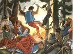 Górale skaczą przez ogień