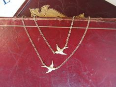 Crossing Paths swallow necklace by Zara Taylor- gorgeous!