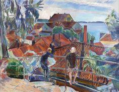 From Brevik - Jean Heiberg 1918 Norwegian 1884-1976 Oil on canvas