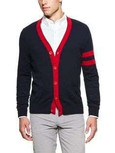 Sleeve Stripe Cardigan by Brooks Brothers on Park & Bond