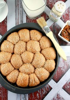 Whole Wheat Honeycomb Buns with Carmelized Onion Filling