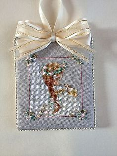 Finished Completed Cross Stitch Ornament Passione Ricamo Angel in Crafts | eBay