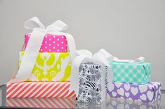 Neon Wrapping Paper by HautePapier on Etsy, $4.00