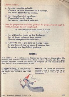 Manuels anciens: Canac, Jughon, Ma première grammaire CE (1963) : grandes images French Education, French Resources, French Lessons, Home Schooling, French Language, Book 1, Montessori, Teaching, Images