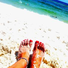 I wanna put my toes in the sand.