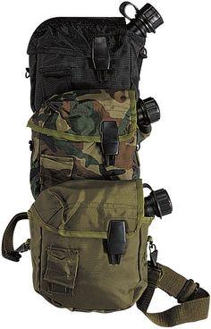 GI Style Military 2 Quart Tactical Bladder Canteen Cover - Black, Camo, OD - GI…
