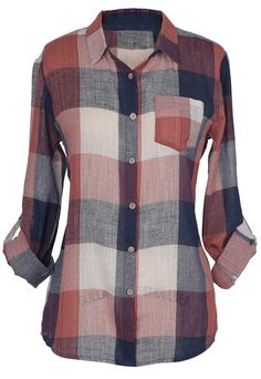 Exhausted about what to wear today? How about this plaid series  with free shipping&easy return? This shirt top detailed with button down design&front pocket. So chic & cozy to have at Cupshe.com !