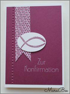 Konfirmationskarte in Beerentönen.