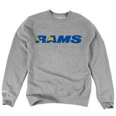 Los Angeles LA Rams Mitchell  amp  Ness Licensed Retro Gray Pullover  Sweatshirt  MitchellNess   5a266c881498
