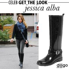 CELEB GET THE LOOK: JESSICA ALBA Jessica Alba, Get The Look, Riding Boots, Celebs, Fashion Design, Shoes, Dresses, Style, Horse Riding Boots