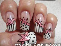 bows nail design
