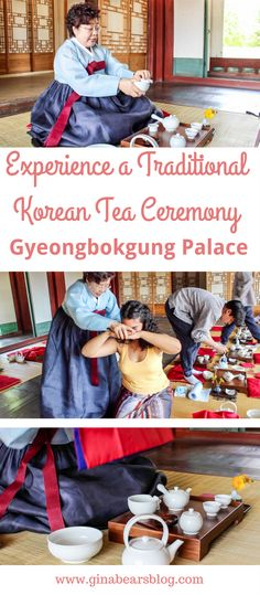 If you want to experience an exquisite traditional Korean culture for free, go to a Gyeongbokgung Palace tea ceremony for a royal experience. South Korea Travel, Asia Travel, Japan Travel, Korean Coffee Shop, Korean Tea, Animal Experiences, Korean Language, Tea Ceremony, Vacation Trips