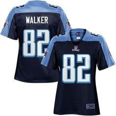 Women s Tennessee Titans Delanie Walker NFL Pro Line Navy Team Color Jersey 4ca47e146