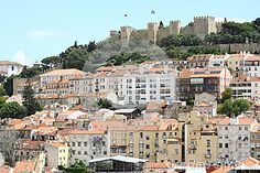 Panorama of Lisbon with castle