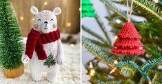 Le decorazioni natalizie all'uncinetto. Il Natale è più bello se le decorazioni le prepariamo con le nostre mani! Perché allora non sbizzarrire la fantasia con l'uncinetto? Mani, Christmas Ornaments, Holiday Decor, Home Decor, Fantasy, Terrariums, Xmas Ornaments, Homemade Home Decor, Christmas Jewelry