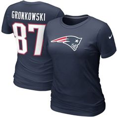 Nike Rob Gronkowski New England Patriots Womens Name & Number T-Shirt - Navy Blue