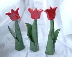 Keramické tulipánky vysoké