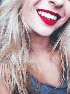 matte red lipstick