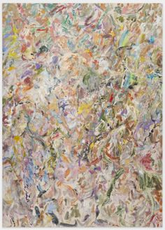 Larry Poons, St. Genesee, 2014, acrylic on canvas, 63 3/4 45 1/2 inches