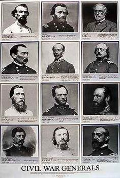 Civil War Generals Confederate Union Collage Posters Pictures