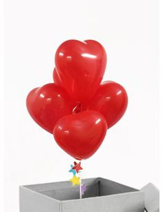 Heart Shaped Balloons in a box in Hyderabad India
