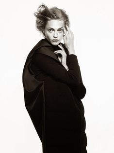 Black Mischief--Photographed by David Sims for the August issue of Vogue Paris, model Sasha Pivovarova enters the studio to showcase a selection of desirab
