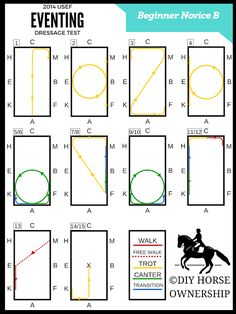 USEF 2014 Beginner Novice Dressage Test Diagram BN B