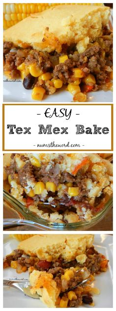 This Easy Tex Mex Bake has turned into a favorite meal. Flavorful ground beef topped with corn bread makes an easy casserole even the kids will love!