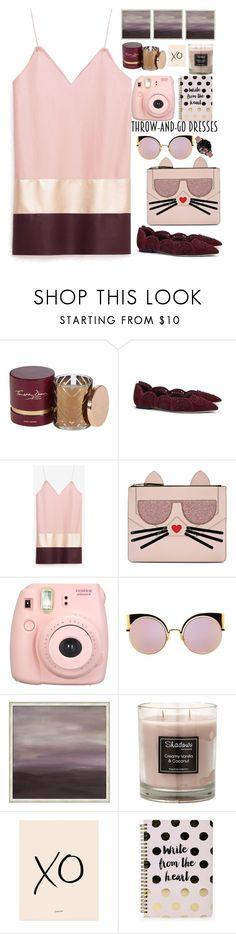 """chic dress"" by licethfashion ❤ liked on Polyvore featuring Timothy Dunn, Tory Burch, Karl Lagerfeld, Fujifilm, Fendi, Pottery Barn, xO Design, Boohoo and Olivia Burton"