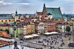 Warsawa Stare Miasto by Maciej Nadstazik, via 500px