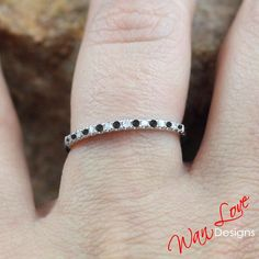 Black & white Diamond Half Eternity Stackable by WanLoveDesigns, $229.00