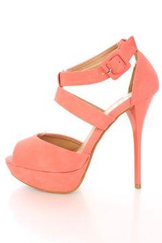 Coral Heel... Bridesmaids!!