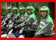 Ojek Modern Di Jalanan Jakarta