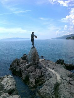 "''Djevojka s galebom'' - Opatija / ""Maiden with the seagull"" - #Opatija, #Croatia"
