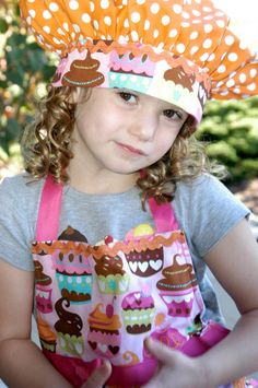 Apron and Chefs Hat for Cupcake themed birthday party 10th Birthday Parties, Baby 1st Birthday, Birthday Party Themes, Birthday Ideas, Cupcake Party, Birthday Cupcakes, Chef Party, Bday Girl, Diy Clothes