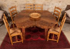 Burr Elm dining Table. by coffeetableshop on Etsy