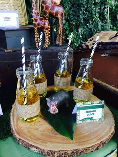 Jungle Juice at a Safari Birthday Party!  See more party planning ideas at CatchMyParty.com!