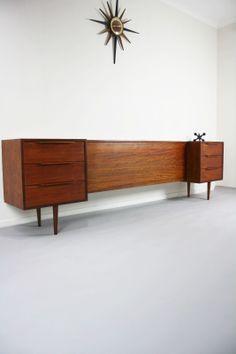 MID Century Bedside Tables Drawers QB Bedhead Retro Vintage Hayson Danish ERA 360 Modern Furniture 360 Modern Furniture