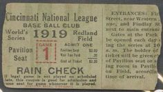 1919 World Series Game 1