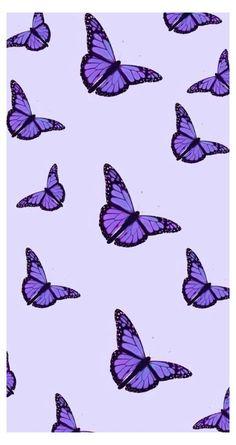 pastel purple butterfly aesthetic