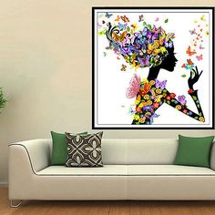 5d #beauty lady butterfly #diamond embroidery painting cross #stitch diy home dec,  View more on the LINK: http://www.zeppy.io/product/gb/2/131871515370/