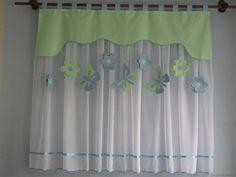 Superb Vorhang Set Fensterdeko Kinderzimmer Motiv gr n cm Handarbeit Kinder