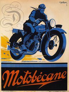 PLAQUE ALU REPRODUISANT UNE AFFICHE MOTO MOTOBENACE MOTARD