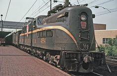 Pennsylvania Railroad GG1 #4894 at Harrisburg, Pennsylvania on July 3, 1964.