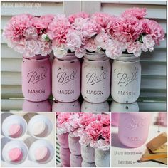 Ombre Distressed Mason Jars