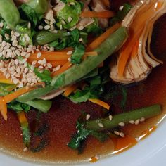 Sumo Style! Sesame-Ginger Chicken and Veggie Soup / @DJ Foodie / DJFoodie.com