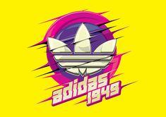 Adidas 2 on Behance Nba T Shirts, World 7, Diamond Supply, Adidas Fashion, Leaf Art, Sports Logo, Cool Wallpaper, My T Shirt, Adidas Logo