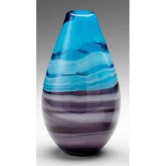 Cyan Design 04808 Tall Callie Vase in Turquoise/Purple