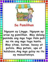 Begin reading with Filipino reading passages which can help you practice your reading, speed and comprehension. Passages include the fol. Reading For Grade 3, Grade 1 Reading Worksheets, Kindergarten Reading Activities, Reading Practice, Beginning Reading, Kindergarten Assessment, Reading Passages, Reading Comprehension, Grade 1 Lesson Plan